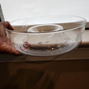 Princess House Heritage Chip and Dip bowl